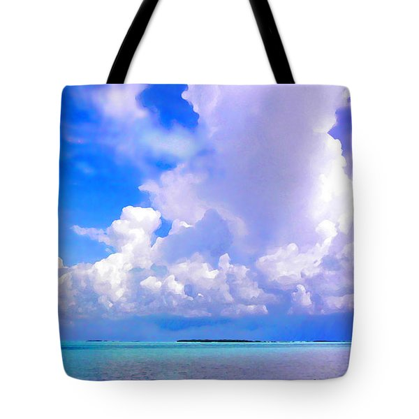 Florida Bay At Shell Pass Filtered Tote Bag
