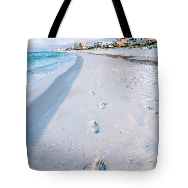 Florida Beach Scene Tote Bag
