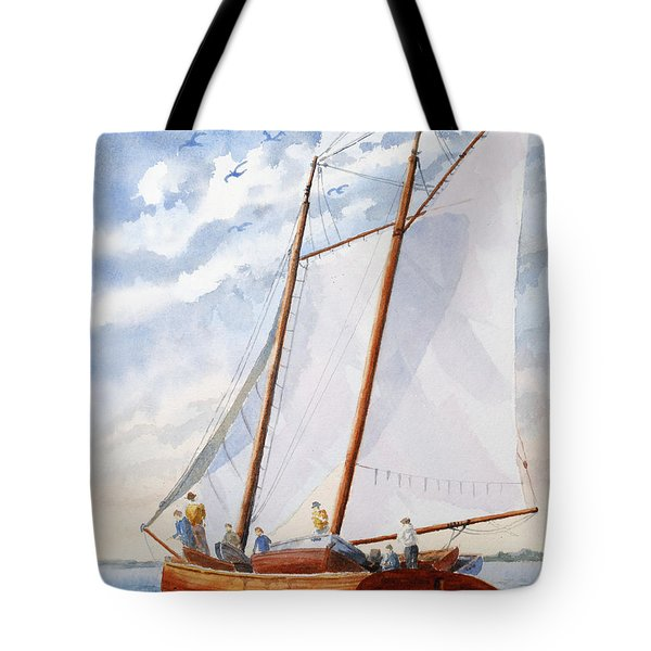 Florida Catboat At Sea Tote Bag