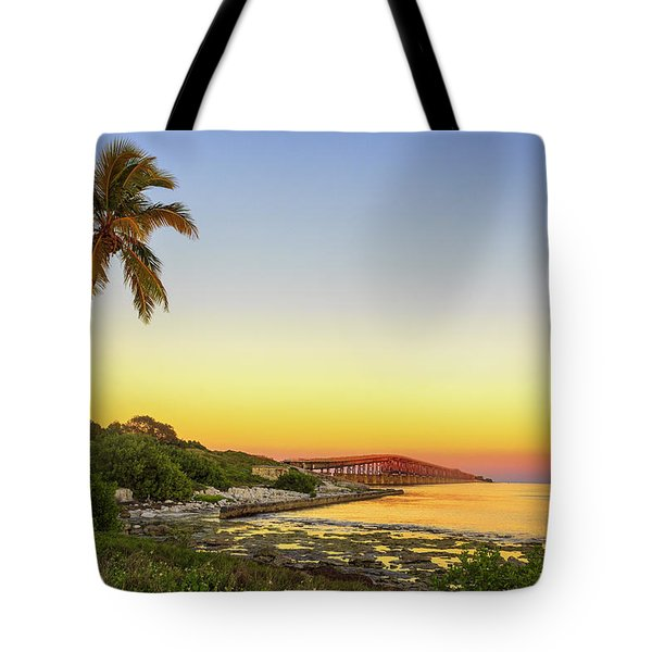 Florida Keys Sunset Tote Bag by Swank Photography