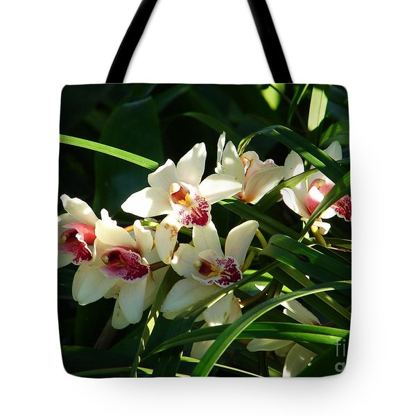 Florida Orchids Tote Bag by Lew Davis