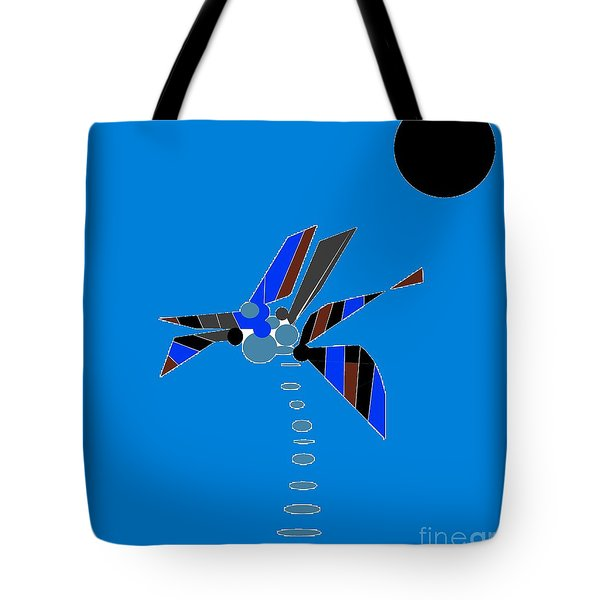 Tote Bag featuring the digital art Florida Palm 2 by Ann Calvo