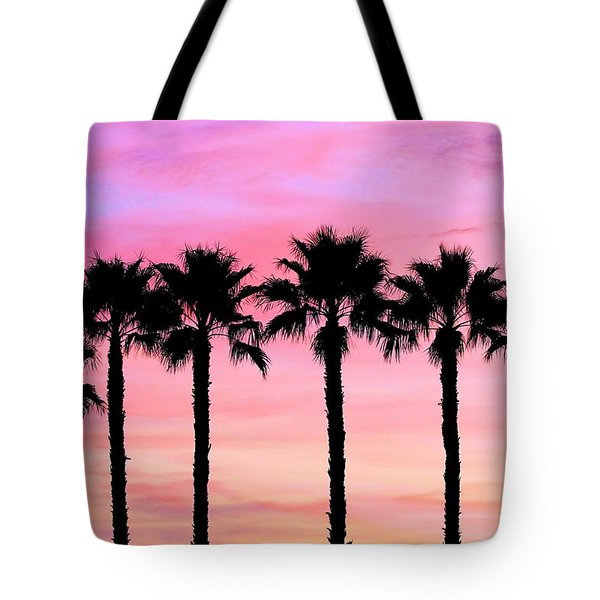 Florida Palm Trees Tote Bag by Elizabeth Budd