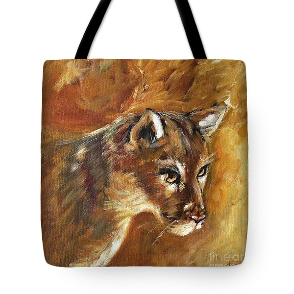 Florida Panther Tote Bag by Karen  Ferrand Carroll