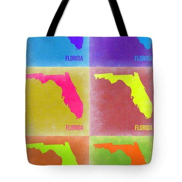 Florida Pop Art Map 2 Tote Bag