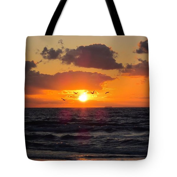 Florida Sunrise Tote Bag by MTBobbins Photography