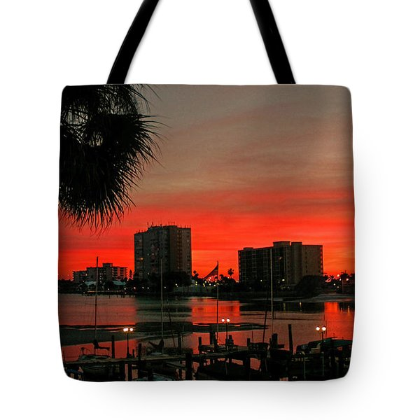 Tote Bag featuring the photograph Florida Sunset by Hanny Heim