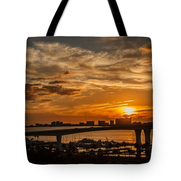 Tote Bag featuring the photograph Florida Sunset by Jane Luxton