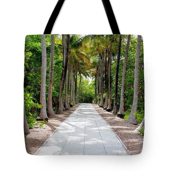 Florida Walkway Tote Bag by Carey Chen