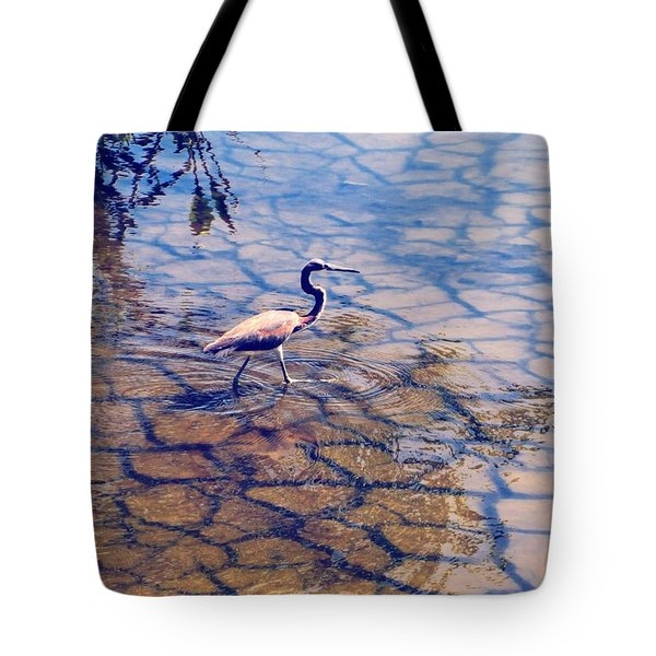 Florida Wetlands Wading Heron Tote Bag