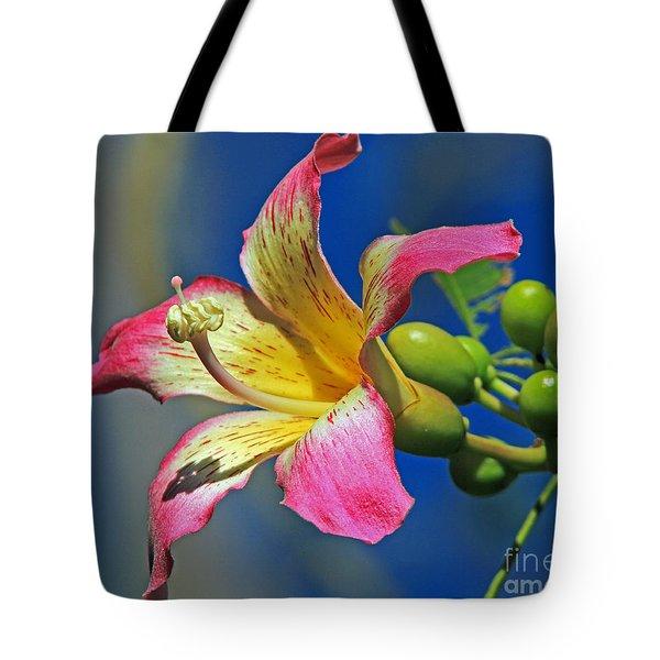 Floss Silk Bloom Tote Bag by Larry Nieland