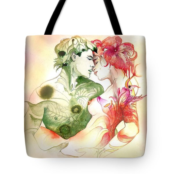Flower And Leaf Tote Bag