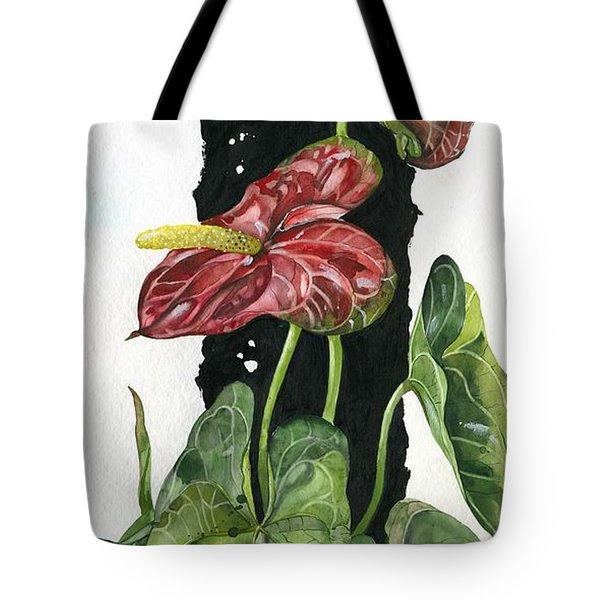 Flower Anthurium 01 Elena Yakubovich Tote Bag by Elena Yakubovich