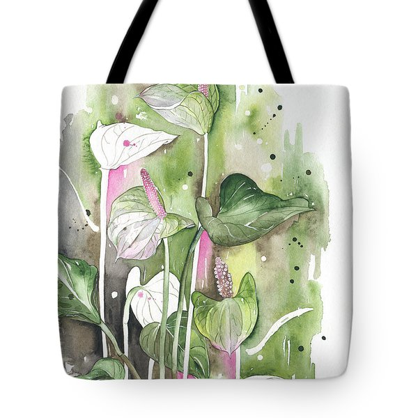 Flower Anthurium 04 Elena Yakubovich Tote Bag