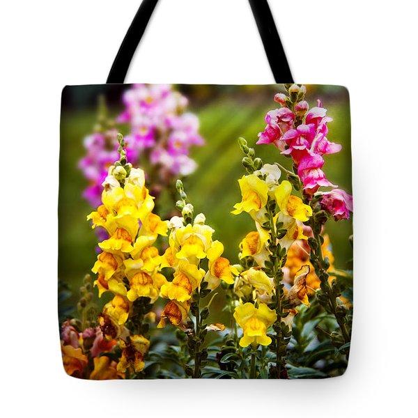 Flower - Antirrhinum - Grace Tote Bag by Mike Savad