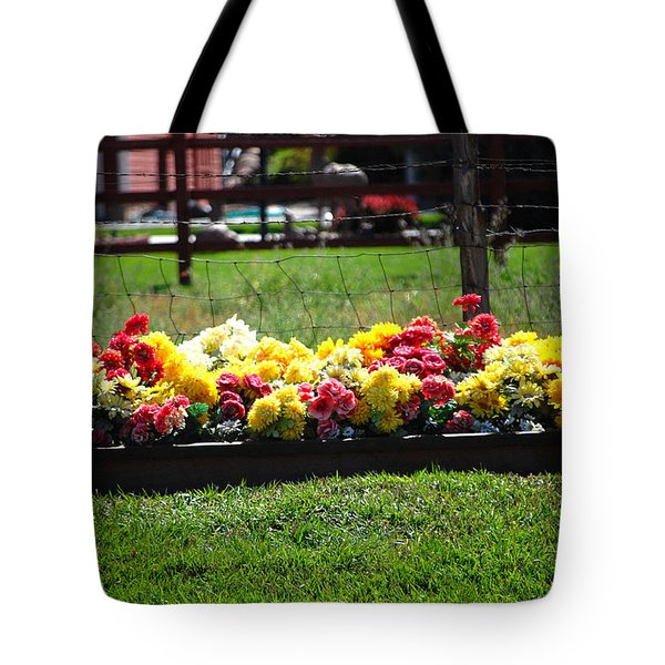 Flower Bed Tote Bag by Holly Blunkall