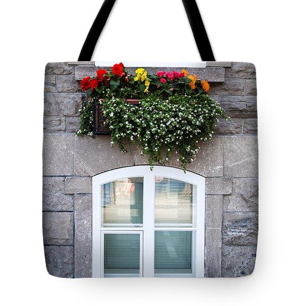 Flower Box Old Quebec City Tote Bag