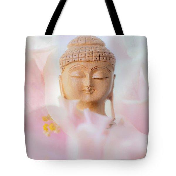 Flower Buddha 3 Tote Bag by Jenny Rainbow