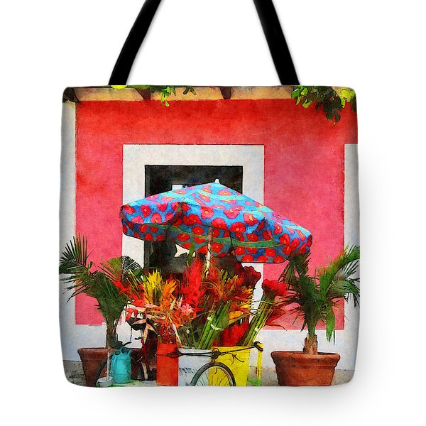 Flower Cart San Juan Puerto Rico Tote Bag by Susan Savad