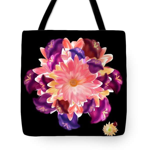 Flower Circle Tote Bag