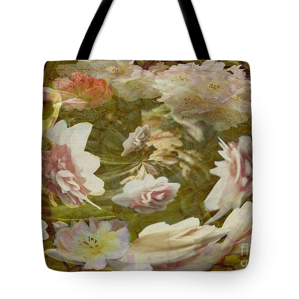 Tote Bag featuring the photograph Flower Drift by Nareeta Martin