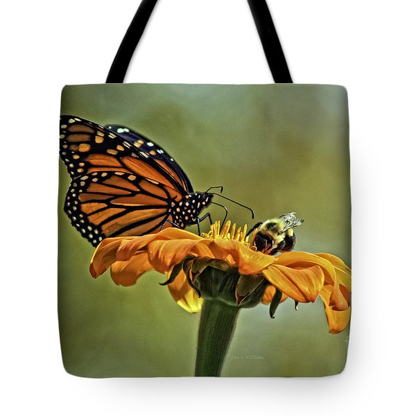 Flower Duet Tote Bag