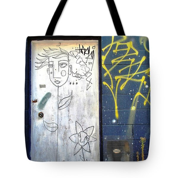 Flower Faces Tote Bag
