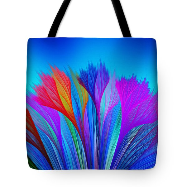 Flower Fantasy In Blue Tote Bag