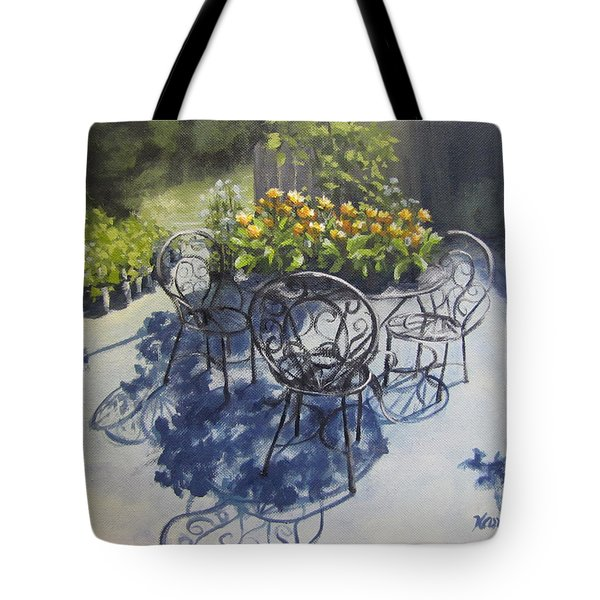 Flower Feast Tote Bag by Karen Ilari