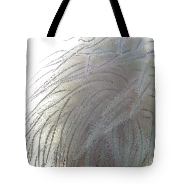 Tote Bag featuring the photograph Floral Feathers by Ramona Johnston