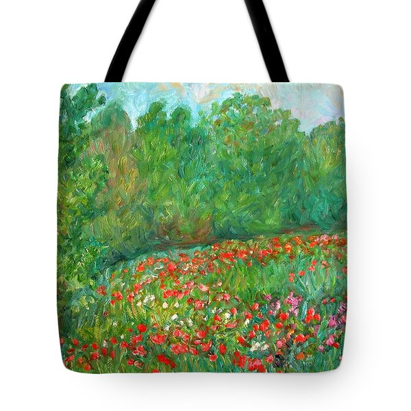 Flower Field Tote Bag by Kendall Kessler