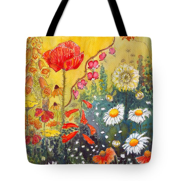 Flower Garden Tote Bag by Katherine Miller
