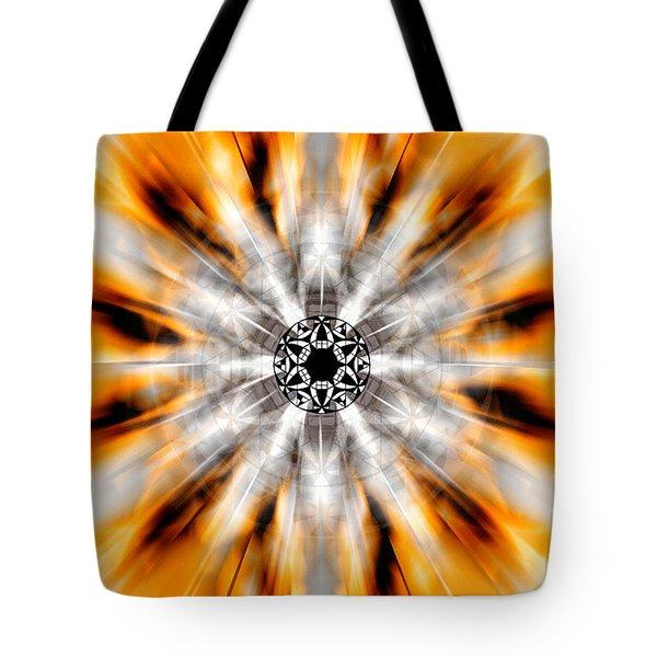 Tote Bag featuring the drawing Flower Grid Sixty-three by Derek Gedney