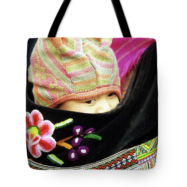 Flower Hmong Baby 02 Tote Bag by Rick Piper Photography