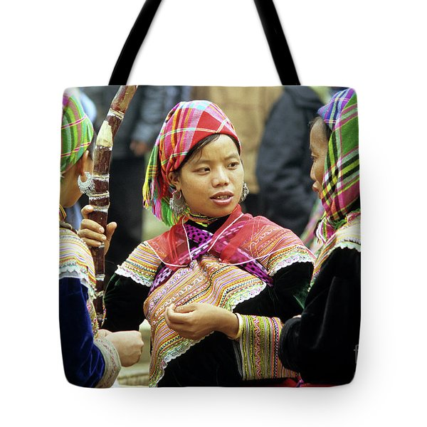 Flower Hmong Women Tote Bag