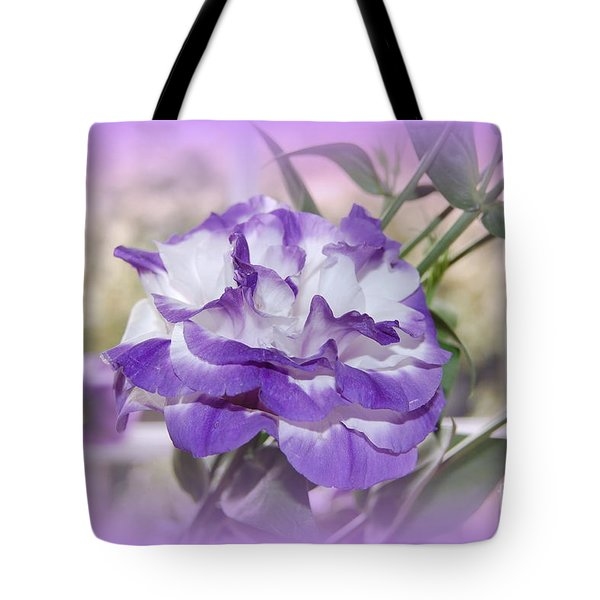 Flower In A Haze Tote Bag by Linda Prewer