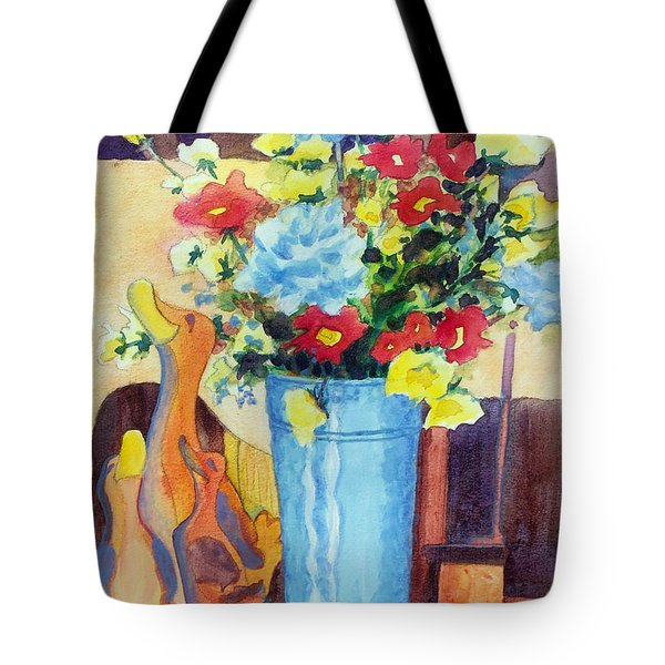 Flower In The Dell Tote Bag by Kathy Braud