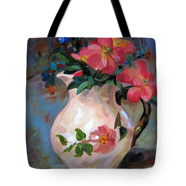 Flower In Vase Tote Bag