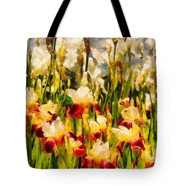 Flower - Iris - Mildred Presby 1923 Tote Bag by Mike Savad
