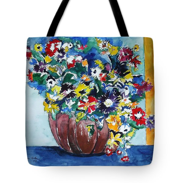 Flower Jubilee Tote Bag by Esther Newman-Cohen