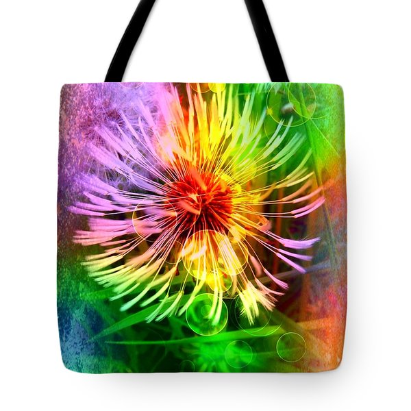 Flower Light Tote Bag by Nico Bielow