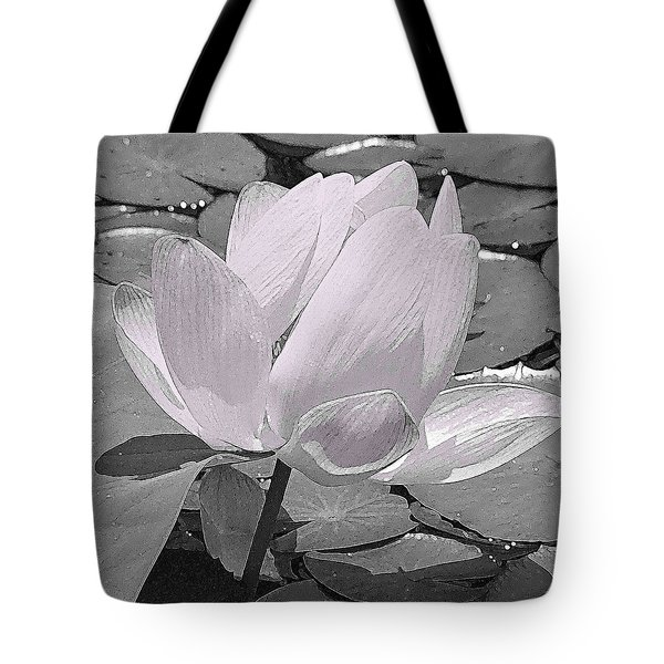 Flower Lilly Pad Tote Bag by Steve Archbold