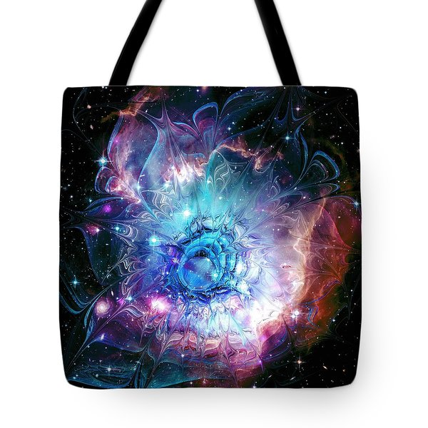 Flower Nebula Tote Bag by Anastasiya Malakhova