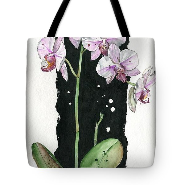 Tote Bag featuring the painting Flower Orchid 02 Elena Yakubovich by Elena Yakubovich