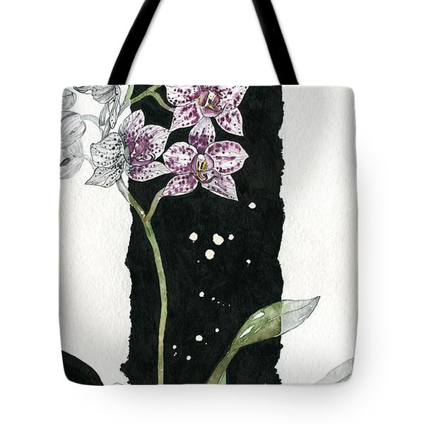 Tote Bag featuring the painting Flower Orchid 04 Elena Yakubovich by Elena Yakubovich