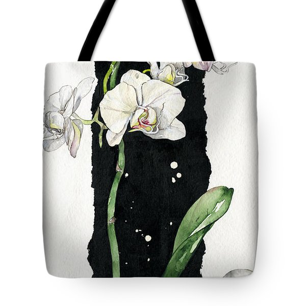 Tote Bag featuring the painting Flower Orchid 05 Elena Yakubovich by Elena Yakubovich
