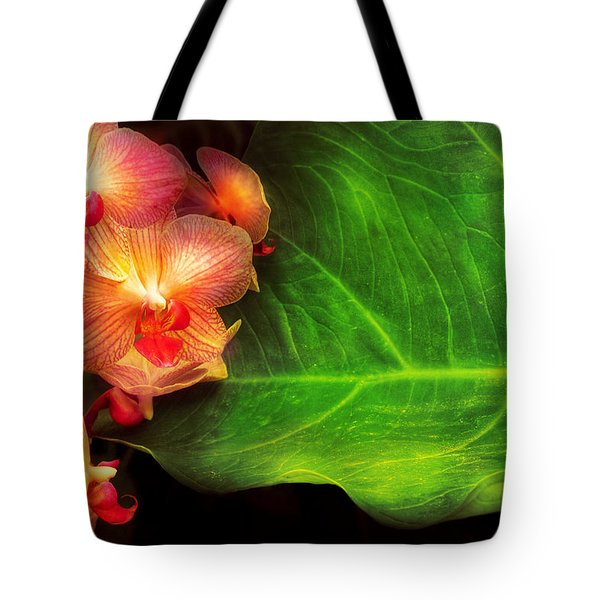Flower - Orchid - Phalaenopsis Orchids At Rest Tote Bag by Mike Savad