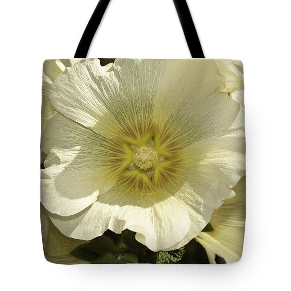Flower Petals Of A White Flower Tote Bag