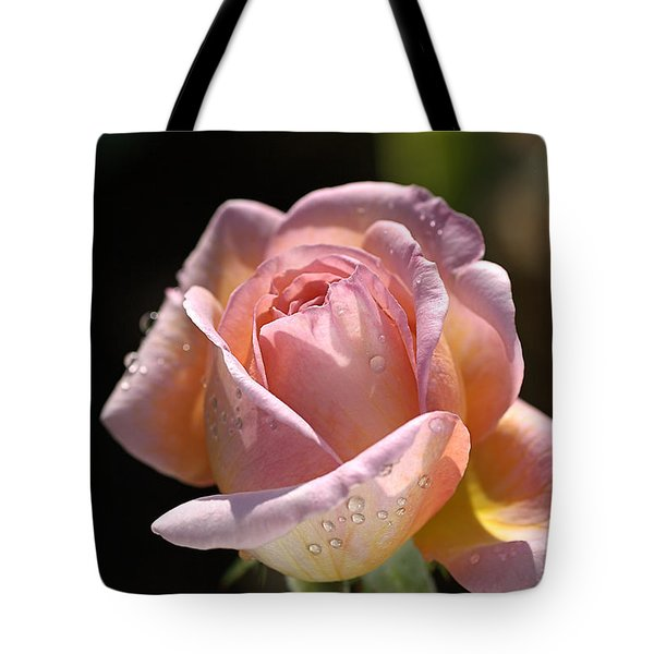 Flower-pink And Yellow Rose-bud Tote Bag
