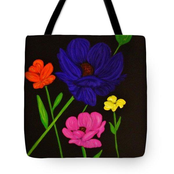 Flower Play Tote Bag